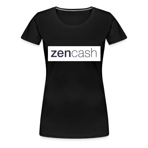 ZenCash CMYK_Horiz - Full - Women's Premium T-Shirt