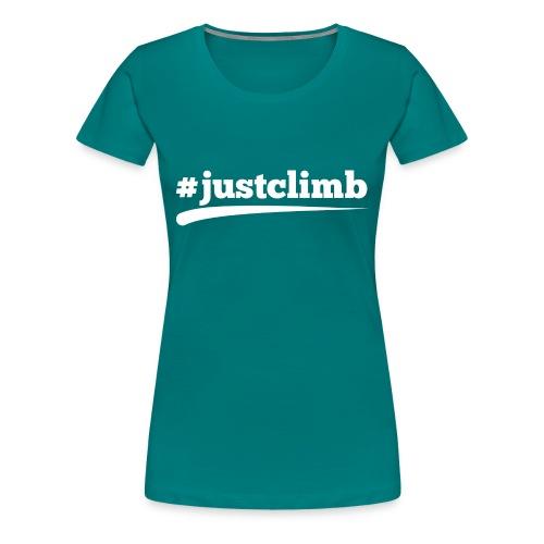 #JUSTCLIMB - Frauen Premium T-Shirt