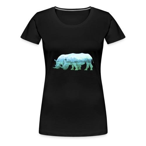 RHINOS, DIE NASHÖRNER IN DEN ALPEN - Frauen Premium T-Shirt