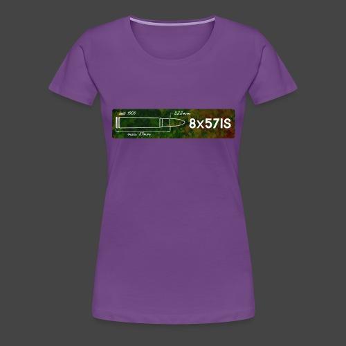 Kalibershirt 8x57 IS für Jäger und Schützen - Frauen Premium T-Shirt