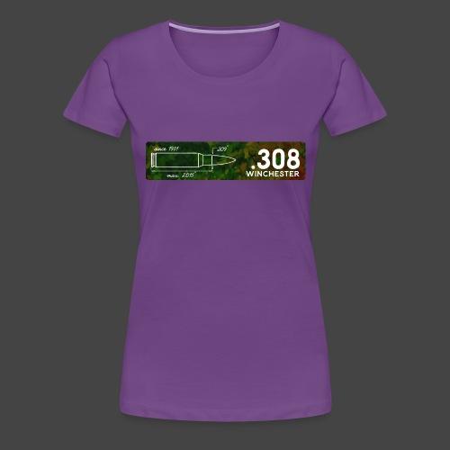 Kalibershirt .308 Win für Jäger und Schützen - Frauen Premium T-Shirt