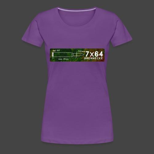 Kalibershirt 7x64 für Jäger und Schützen - Frauen Premium T-Shirt