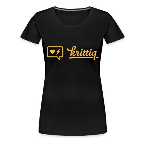 krittiq Logo - Frauen Premium T-Shirt