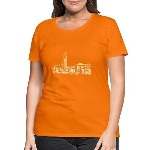 Helsinki railway station pattern trasparent beige - Women's Premium T-Shirt