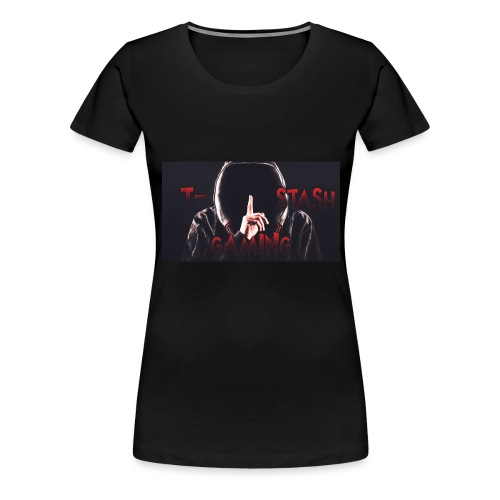 Hooded T-Stash Wide - Women's Premium T-Shirt