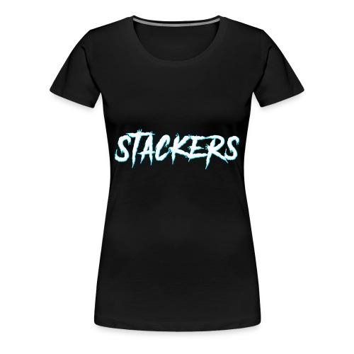 STACKERS (Blue) - Women's Premium T-Shirt