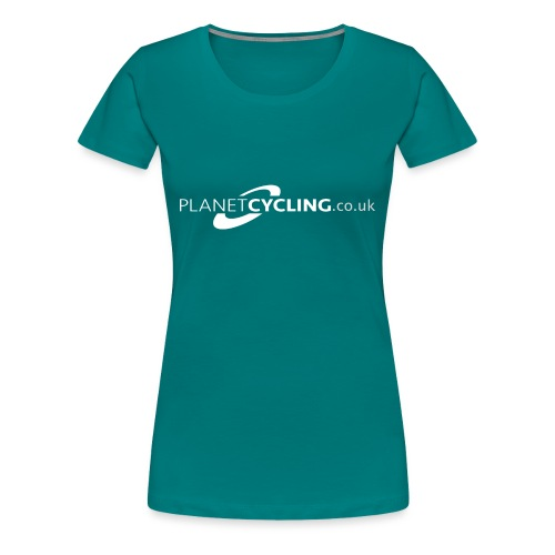 Planet Cycling Web Logo - Women's Premium T-Shirt