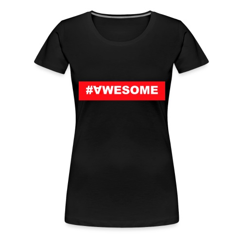 Awesome logo jpg - Frauen Premium T-Shirt