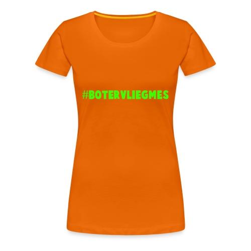 #Botervliegmes T-shirt (vrouwen) - Vrouwen Premium T-shirt