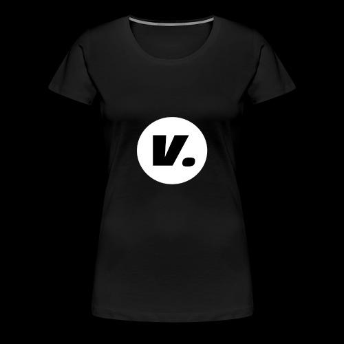 Ventura Black V Logo - Vrouwen Premium T-shirt