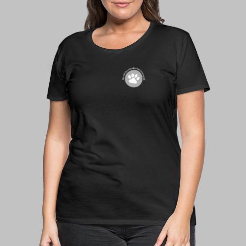 Die mit dem Golden Retriever geht - Frauen Premium T-Shirt