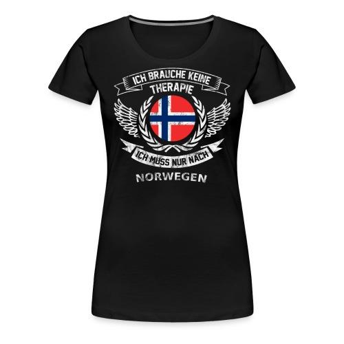 norwegen therapie t shirt retro dfd - Frauen Premium T-Shirt