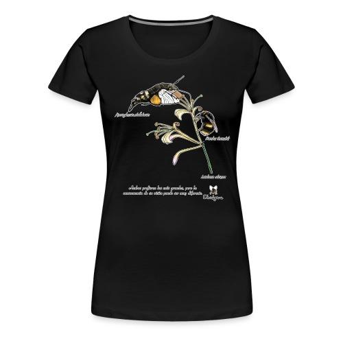 Lonicera etrusca y polinizadores. - Camiseta premium mujer