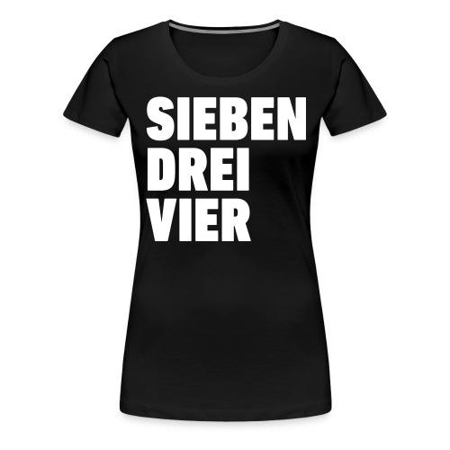 734 Sieben drei vier - Frauen Premium T-Shirt