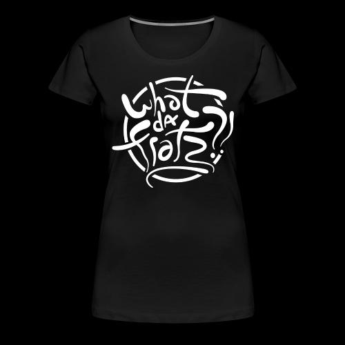 WDF LOGO WIT - Vrouwen Premium T-shirt