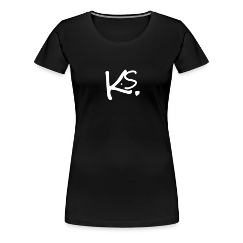 KS LOGO LETTERS copy png - Frauen Premium T-Shirt