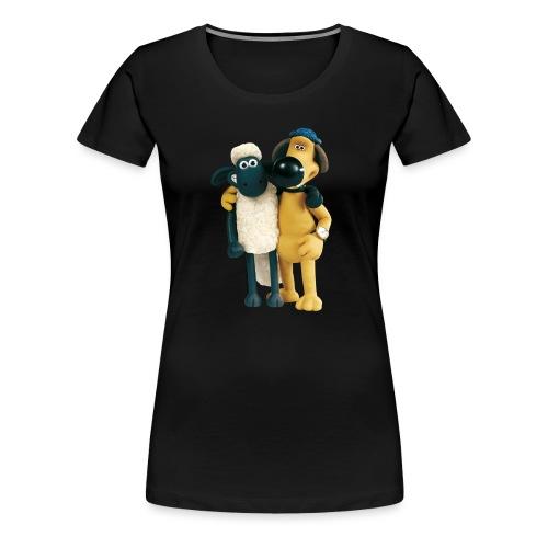 Shaun das Schaf T-Shirt - Shaun und Bitzer - Frauen Premium T-Shirt