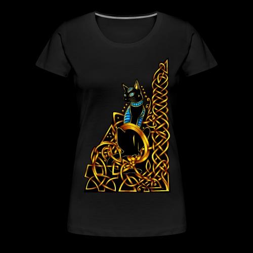 Celtic Cat - sitting - Women's Premium T-Shirt