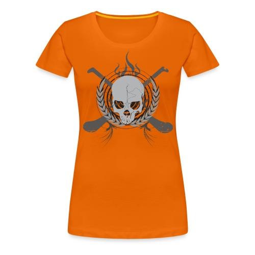 skullgreyblack - Women's Premium T-Shirt