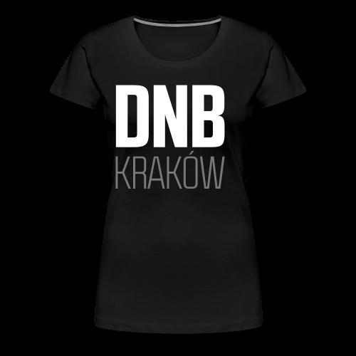 DNB KRAKÓW SQ BLACK - Koszulka damska Premium