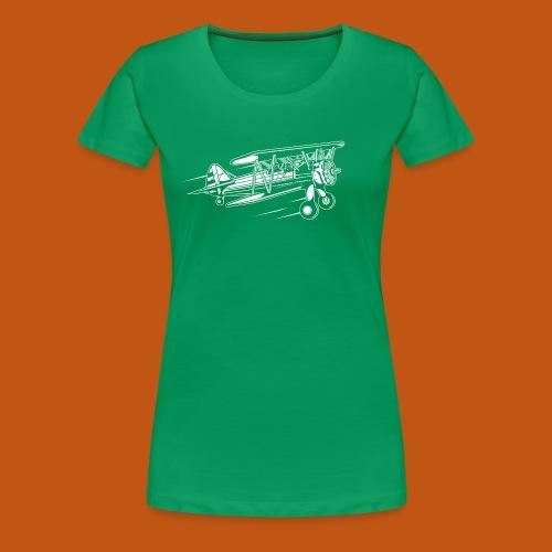Flugzeug / Airplane 01_weiß - Frauen Premium T-Shirt