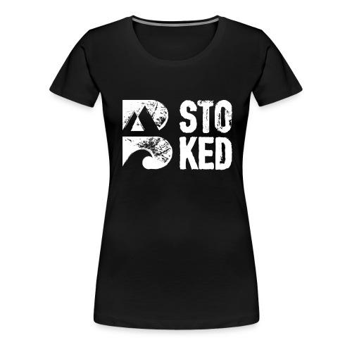 bstoked logo white - Women's Premium T-Shirt