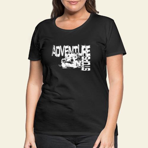 Adventure white - Dame premium T-shirt