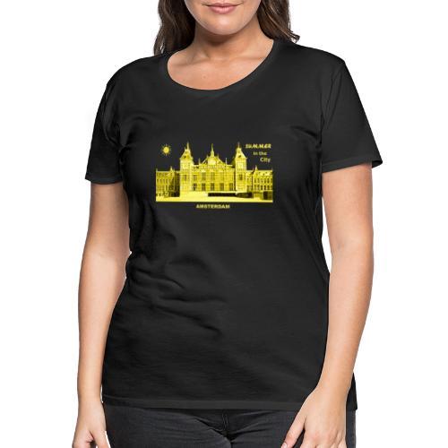 Summer Amsterdam City Bahnhof Niederlande Sommer - Frauen Premium T-Shirt