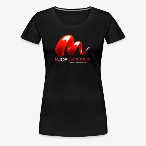 Logo Njoy Records Blanc - T-shirt Premium Femme