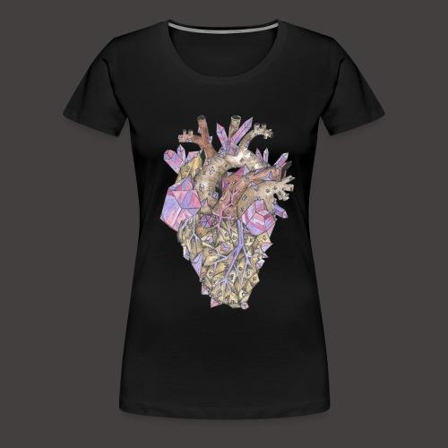 Le Coeur de Cristal Couleur - T-shirt Premium Femme