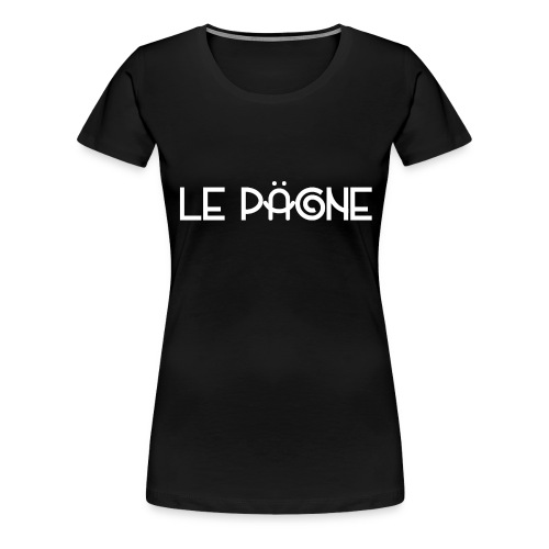 Le Pägne Logo Blanc - T-shirt Premium Femme