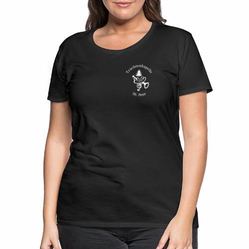 T-Shirt Logo mit Schrift hinten und vorne - Frauen Premium T-Shirt