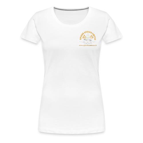 upland access ltd logo gold white - Women's Premium T-Shirt
