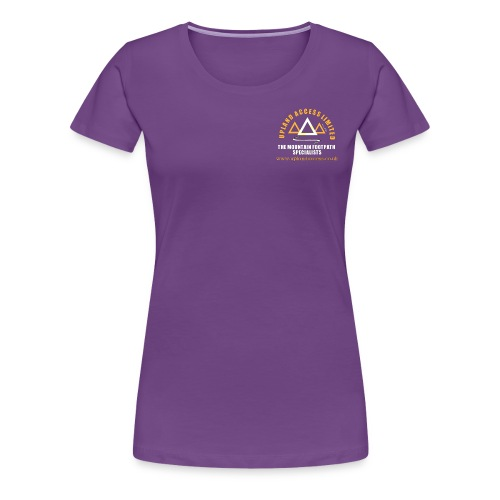 upland access ltd logo gold white - Women's Premium T-Shirt
