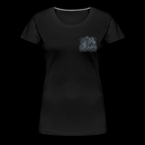 khasm blason + Wolf on Back - T-shirt Premium Femme