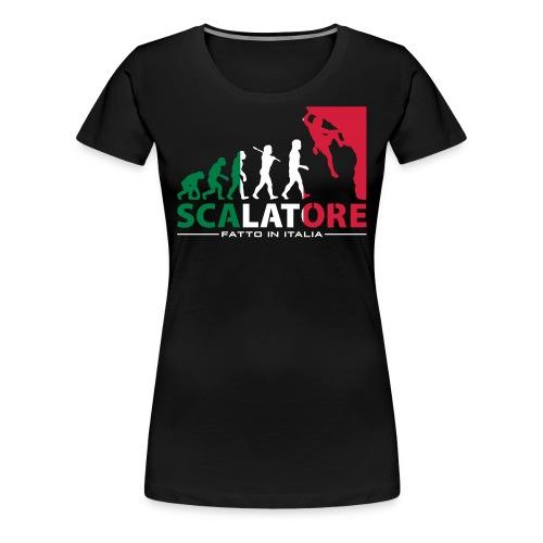 ROCK CLIMBING EVOLUTION SCALATORE FATTO IN ITALIA - Women's Premium T-Shirt