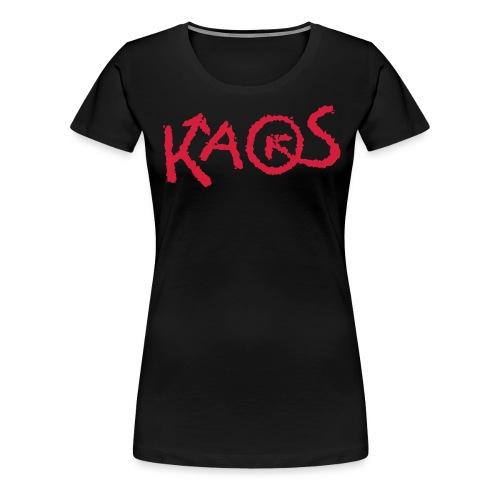 kaoslogo til tshirt liten - Premium T-skjorte for kvinner