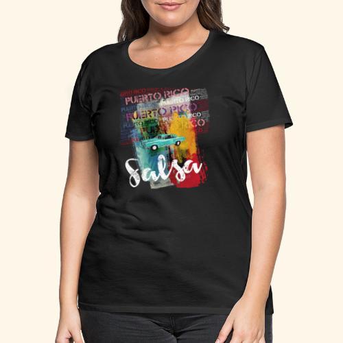 Salsa Puerto Rico Classic Car T-Shirt for Dancers - Women's Premium T-Shirt