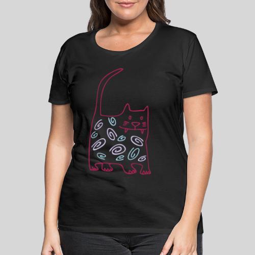 schöne dicke katze - Frauen Premium T-Shirt