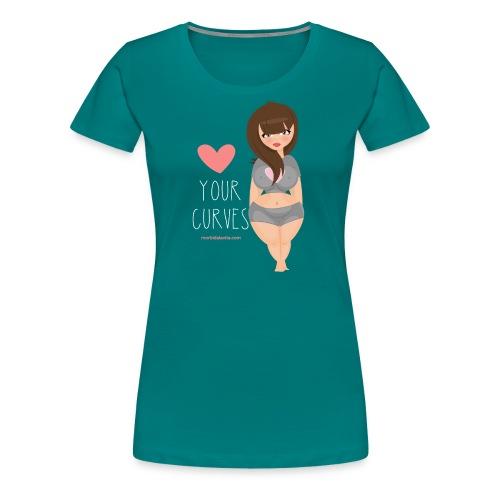 Love your curves brunette - Maglietta Premium da donna