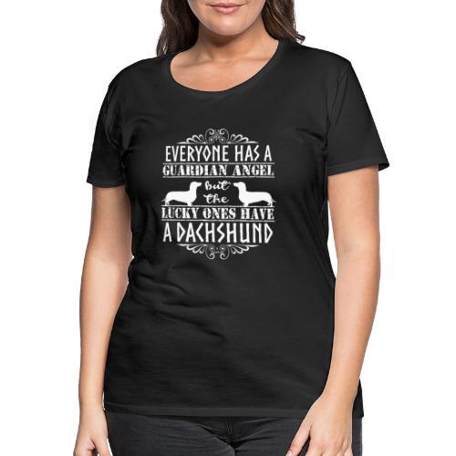 Dachshund SH Angels4 - Naisten premium t-paita