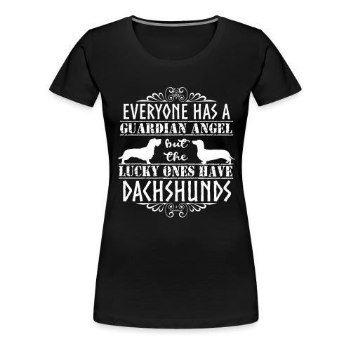 Dachshund WH SH Angels2 - Women's Premium T-Shirt