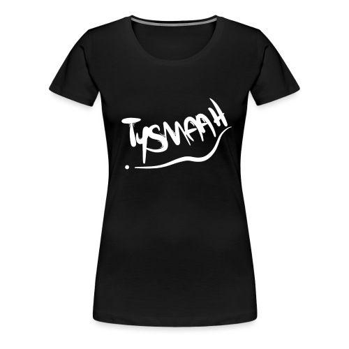 Logo blanc - TYSMAAH - T-shirt Premium Femme