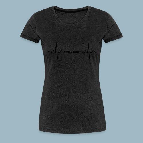 ECG long short black - Women's Premium T-Shirt