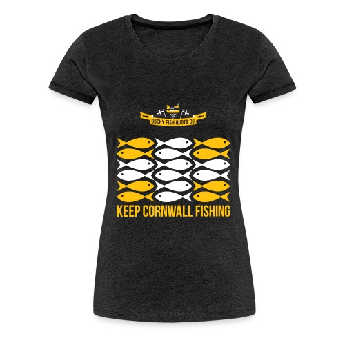 DFQC KCF Flag - Black - Women's Premium T-Shirt
