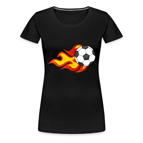 Flaming Football - Women's Premium T-Shirt