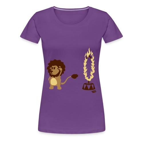 Löwe Feuer (bunt) - Frauen Premium T-Shirt