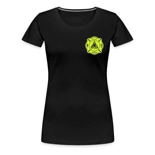 Feuerwehr ABC Einheit - Brust- Rücken- Ärmeldruck - Frauen Premium T-Shirt