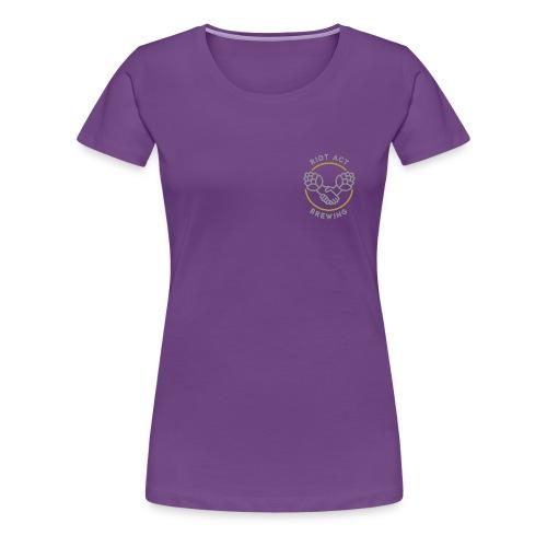 logo riot act brewing clean - Frauen Premium T-Shirt