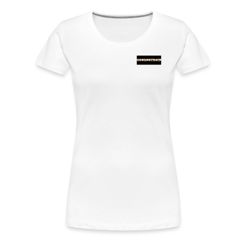 Concentrate on black - Women's Premium T-Shirt